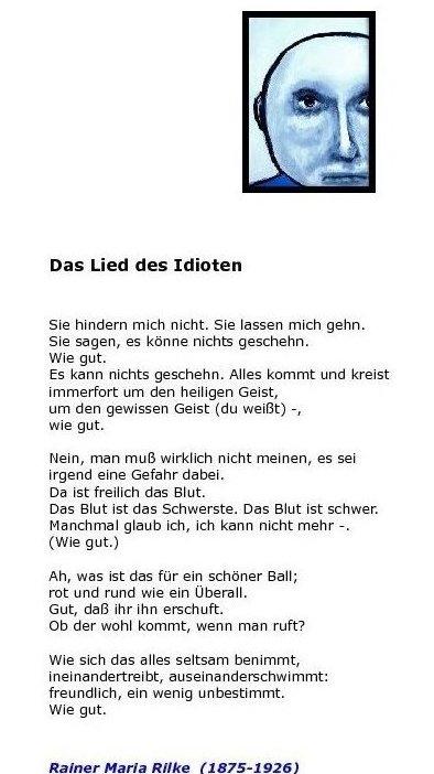 Fleurs Du Mal Rainer Maria Rilke Gedichte